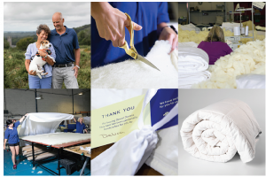 The care that goes into handcrafting our 100% British wool duvets